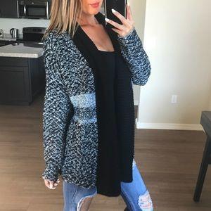 New John + Jenn Intarsia Oversize Sweater Cardigan
